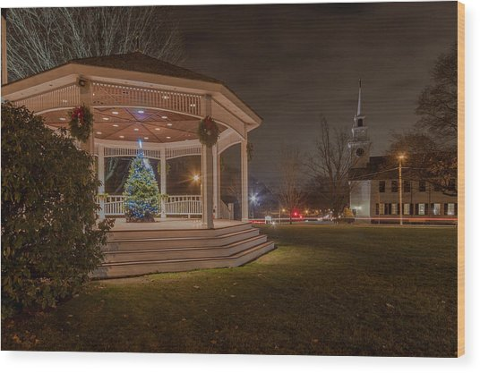 Merry Christmas From Milton Massachuetts Wood Print
