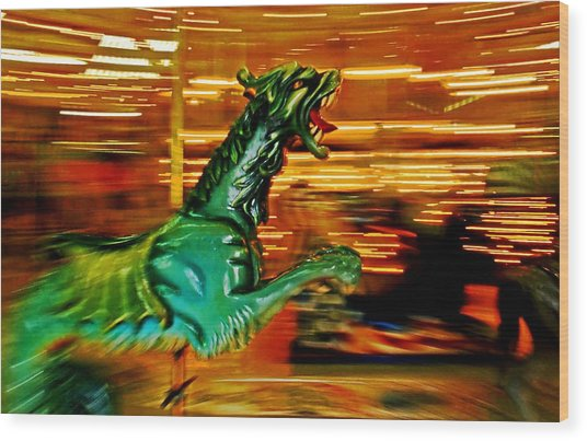 Merry-go-round Dragon Wood Print