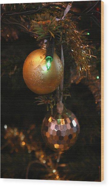 Merry Xmas Wood Print by Jez C Self