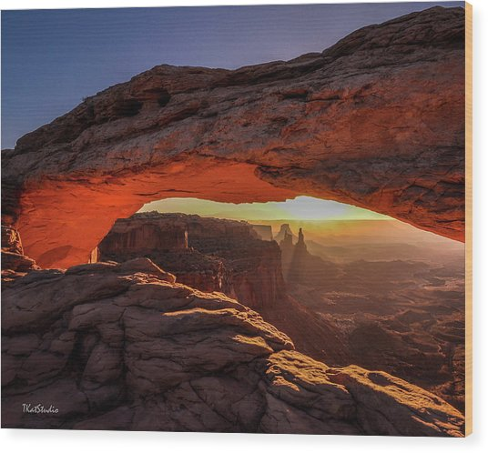 Mesa Arch At Sunrise 1, Canyonlands National Park, Utah Wood Print
