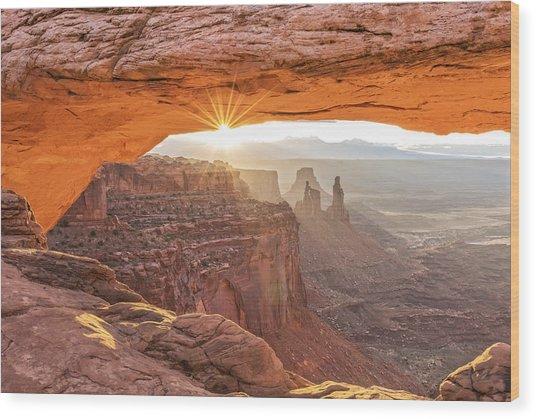 Mesa Arch At Sunrise #1 Wood Print