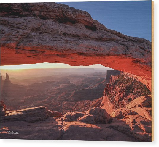 Mesa Arch At Sunrise 2, Canyonlands National Park, Utah Wood Print