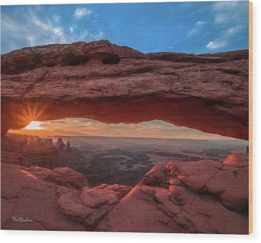Mesa Arch At Sunrise 3, Canyonlands National Park, Utah Wood Print