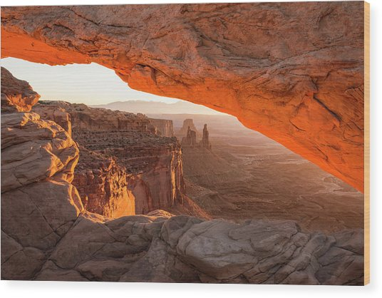 Mesa Arch Sunrise 5 - Canyonlands National Park - Moab Utah Wood Print