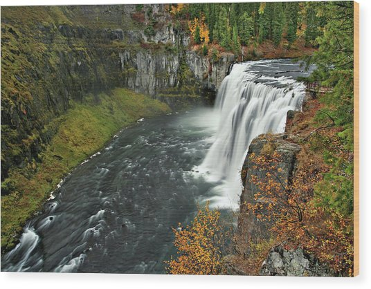 Wood Print featuring the photograph Mesa Falls by Wesley Aston