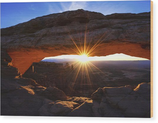 Mesa Sunrise Wood Print