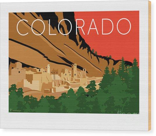 Mesa Verde Orange Wood Print
