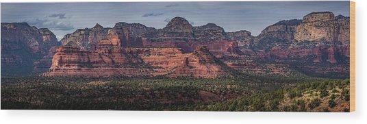 Mescal Mountain Panorama Wood Print