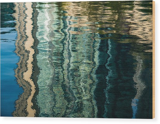 Mesmerizing Abstract Reflections Two Wood Print