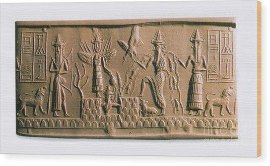 Mesopotamian Gods Wood Print