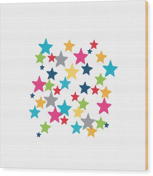 Messy Stars- Shirt Wood Print