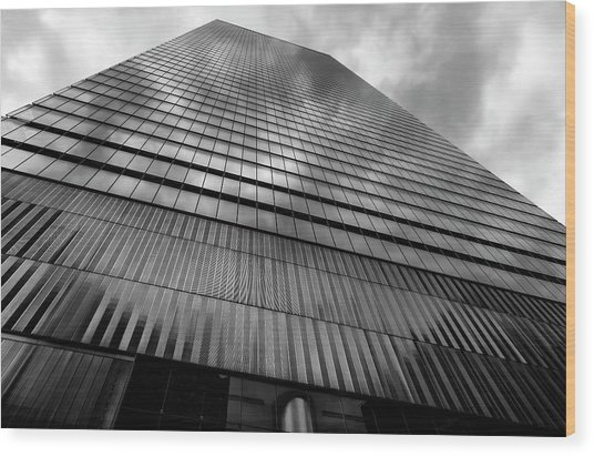 Metal And Glass High Rise Wood Print by Robert Ullmann