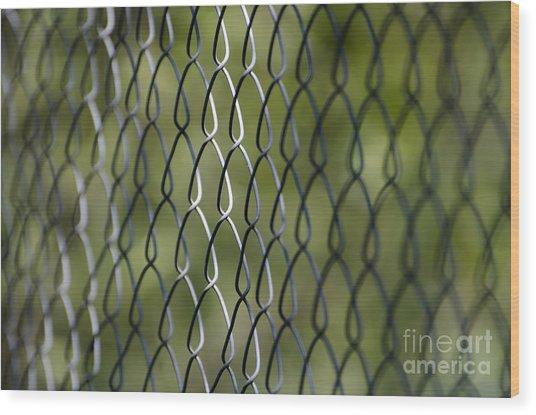 Metal Fence Wood Print