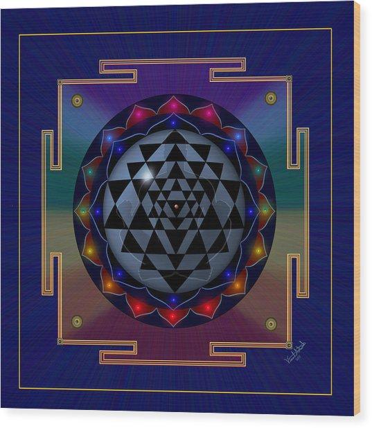 Metal Mandala Wood Print