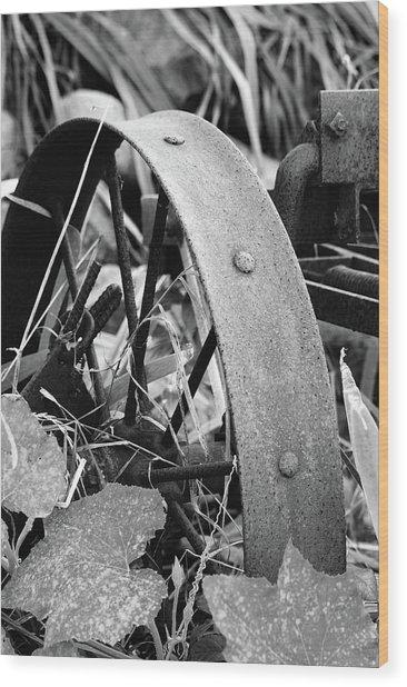 Metal Wheel Wood Print