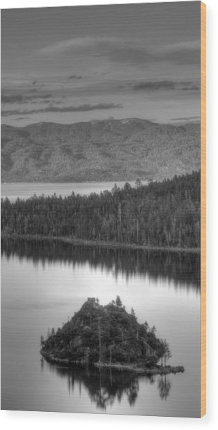 Metallic Emerald Bay  Wood Print