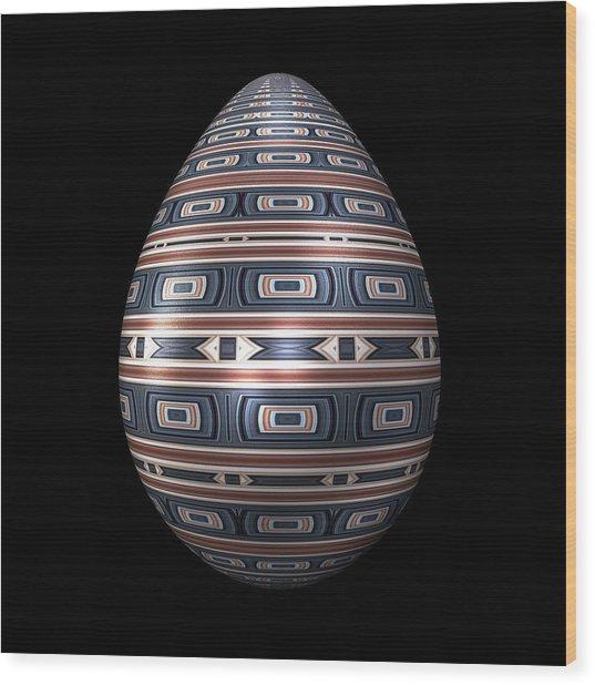 Metallic Foil Pattern Egg Wood Print