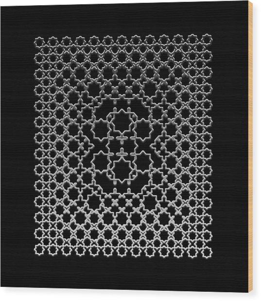 Metallic Lace Axxxv Wood Print