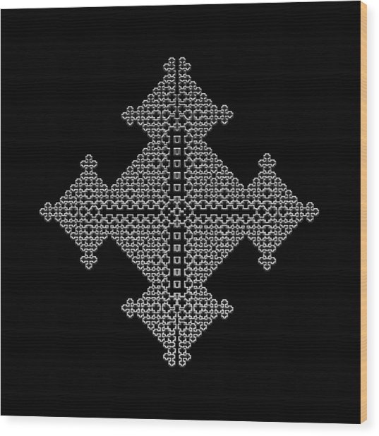 Metallic Lace Bix Wood Print