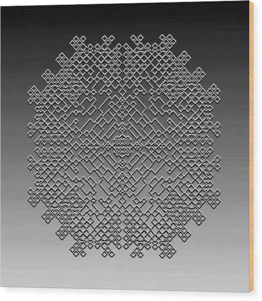 Metallic Lace Cxxix Wood Print