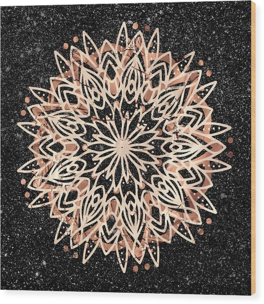 Metallic Mandala Wood Print