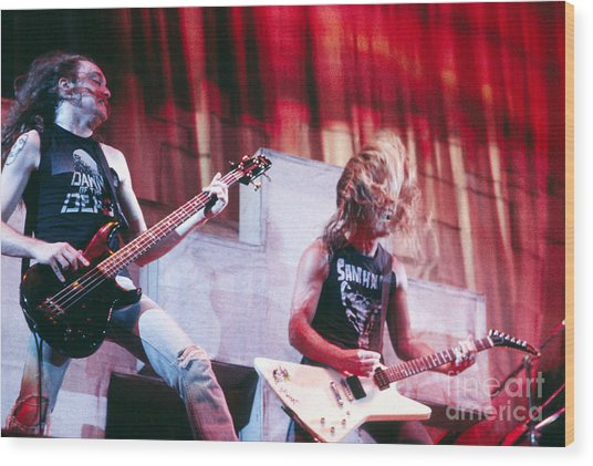 Metallica 1986 Cliff And James Wood Print