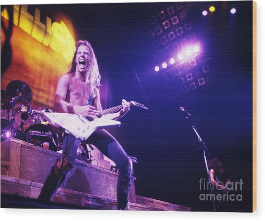 Metallica 1986 James Hetfield Wood Print