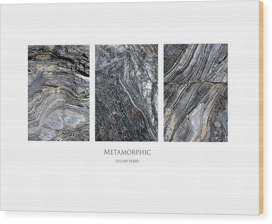 Wood Print featuring the digital art Metamorphic by Julian Perry