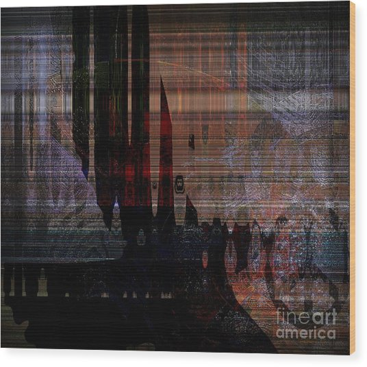 Metaphysical Formations Wood Print by Fania Simon