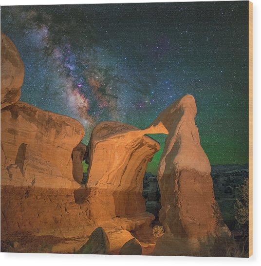 Metate Arch Wood Print