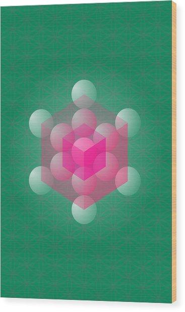 Metathron's Cube Wood Print by Selim Oezkan