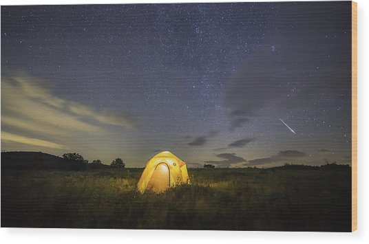 Meteor  Wood Print by Michael Donahue