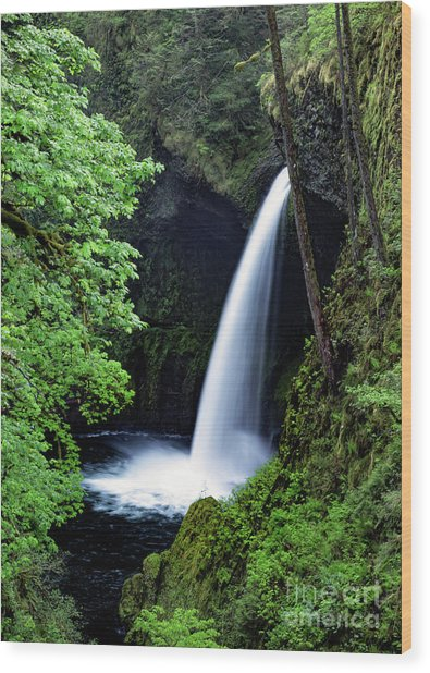 Metlako Falls Waterfall Art By Kaylyn Franks Wood Print