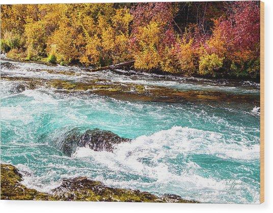 Metolius River Wood Print