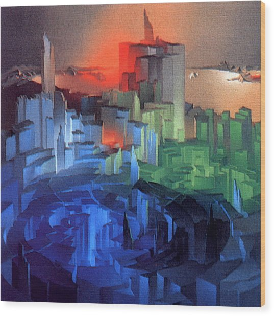 Metropolis 1975 Wood Print