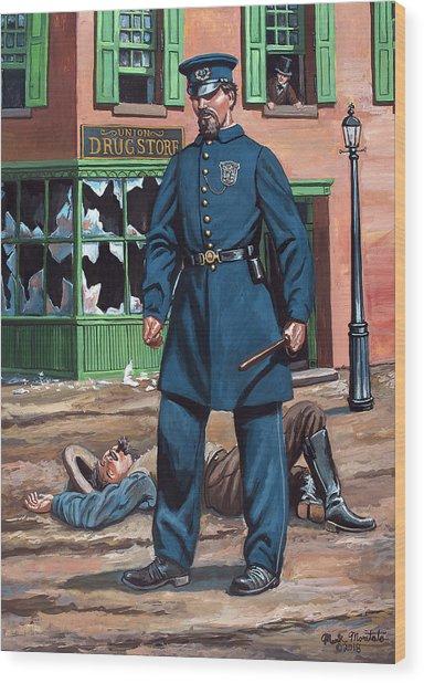Metropolitan Police Officer 1863 Wood Print by Mark Maritato
