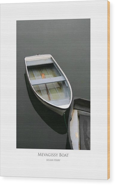 Wood Print featuring the digital art Mevagissy Boat by Julian Perry
