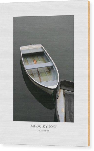 Mevagissy Boat Wood Print