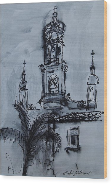 Mexican Church Wood Print