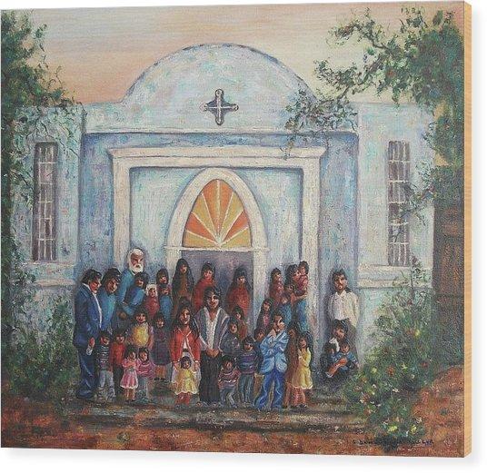 Mexican Church Wood Print