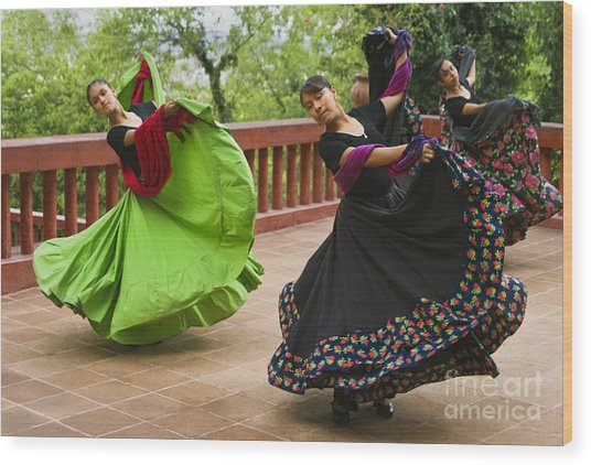 Mexican Dancers - San Miguel De Allende Wood Print