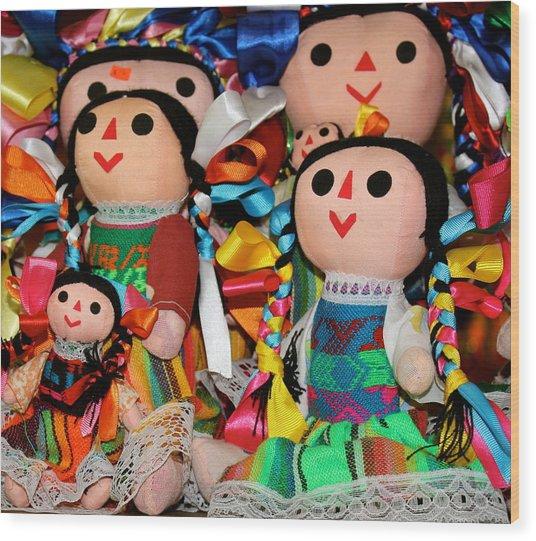 Mexican Dolls Wood Print