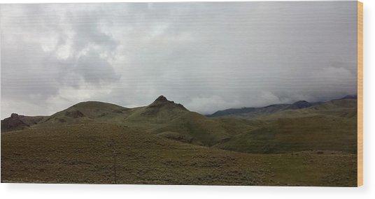 Mexican Landscape Wood Print