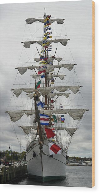 Mexican Navy Ship Wood Print