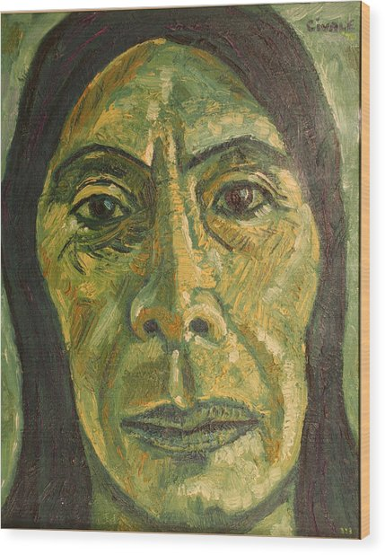 Mexican Woman Wood Print by Biagio Civale