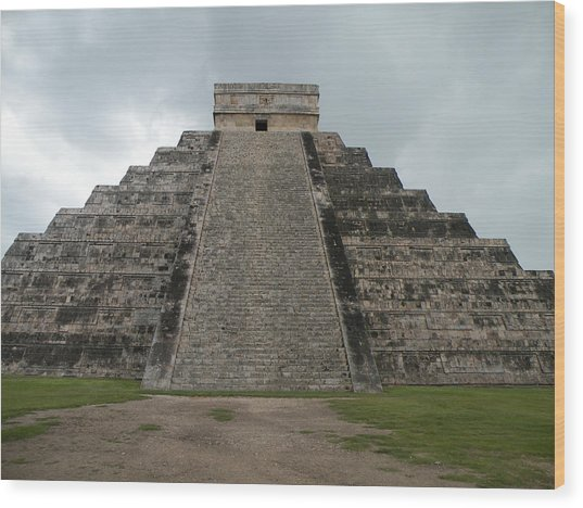 Mexico Chichen Itza Wood Print