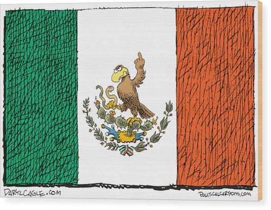 Mexico Flips Bird Wood Print