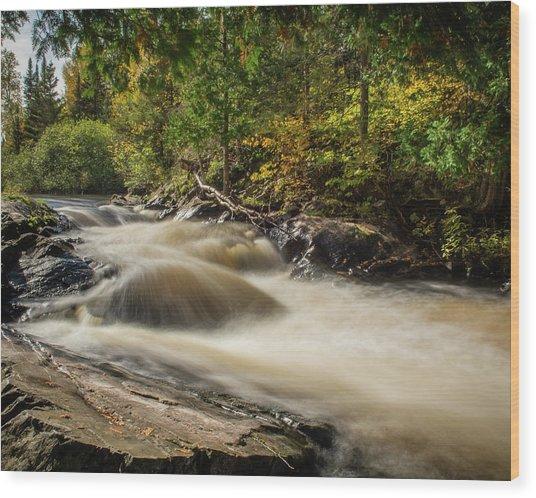 Meximine Falls Wood Print