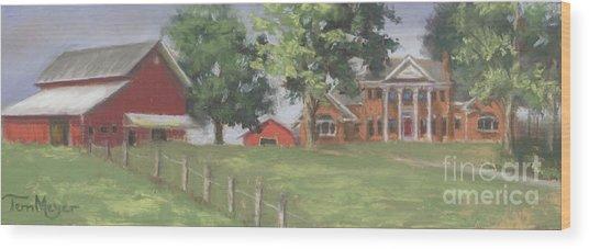 Meyer Country Estate Wood Print by Terri  Meyer