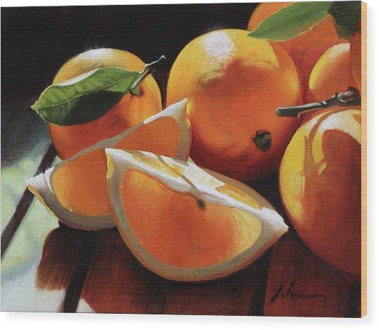 Meyer Lemons Wood Print by Michael Lynn Adams